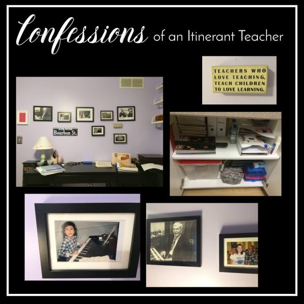Confessions of an itinerant teacher…what's on my desk.