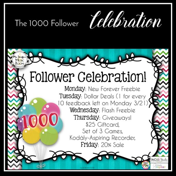 1000 Follower Celebration
