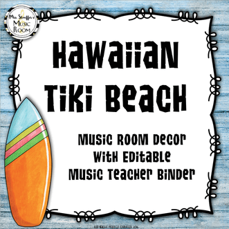 Hawaiian Tiki Beach Decor