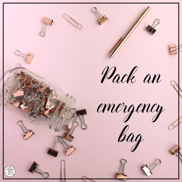 image teacher hack january pack an emegency bag
