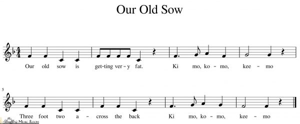 image our old sow sheet music notation