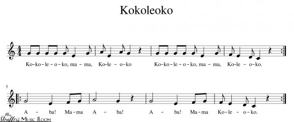 image kokoleoko sheet music notation