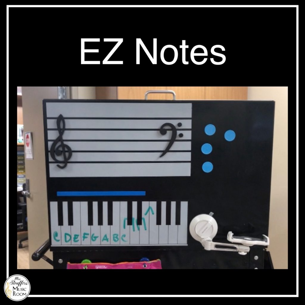 EZ Notes Music Review for Teaching Music on a Cart