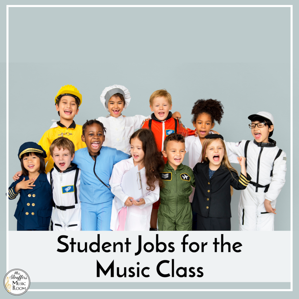 Student Jobs for the Music Class