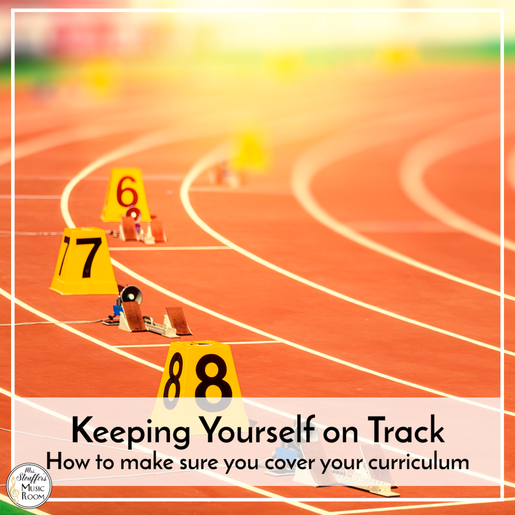 Keeping Yourself on Track - How to Make Sure You Cover Your Curriculum